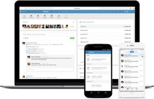 Citrix Podio interface on desktop and smartphone