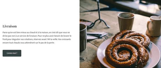 Deuxieme page d'un site internet gratuit créé avec Jimdo