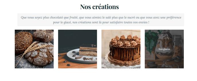 Deuxieme page d'un site internet gratuit créé avec Mozello