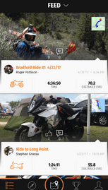 Application GPS moto Rever avec partage de photos