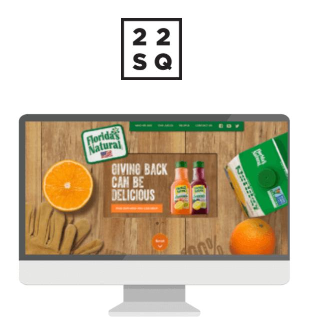 22Squared logo and screenshot display