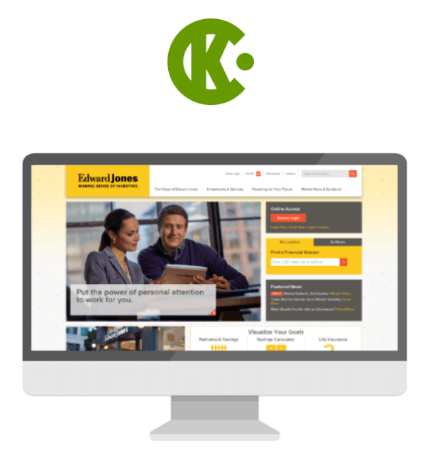 Cramer-Krasselt logo and screenshot display