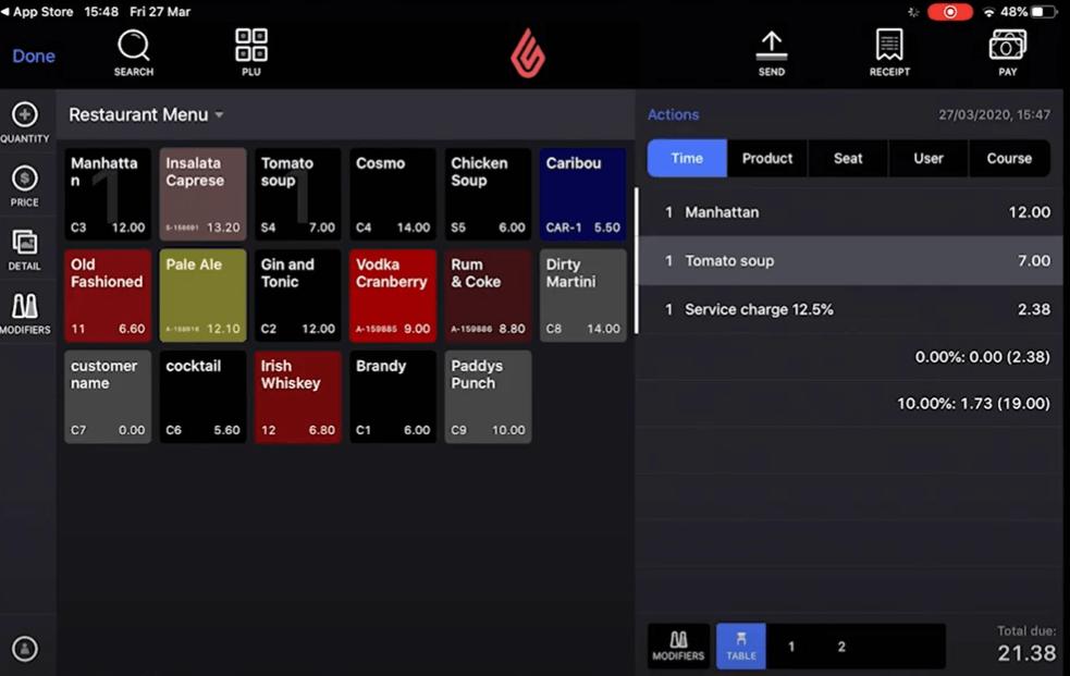 La prise de commande avec le logiciel de caisse pour restaurants Lightspeed