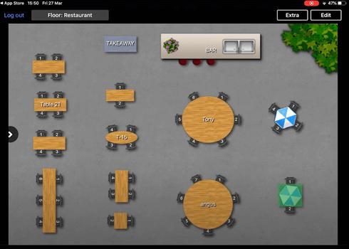 Le plan de table avec le logiciel de caisse pour restaurants Lightspeed