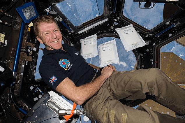 Tim Peake in space