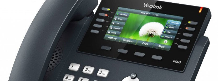 Office IP Desk Phone Features Closeup