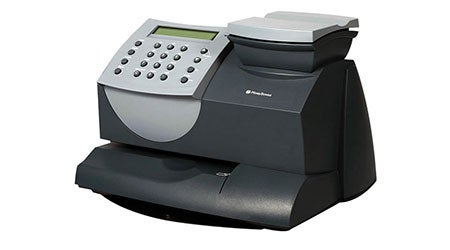 The DM60 franking machine by Pitney Bowes