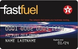 Texaco fuel card