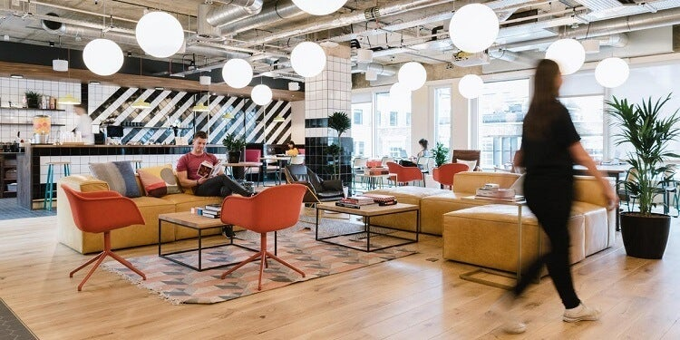 Shared office WeWork Mansion House