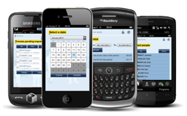 bodet kelio app on various smartphones