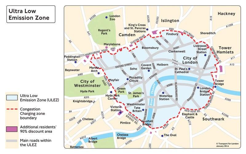 ULEZ boundary map