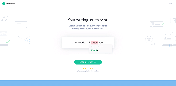 B2B website design - Grammarly