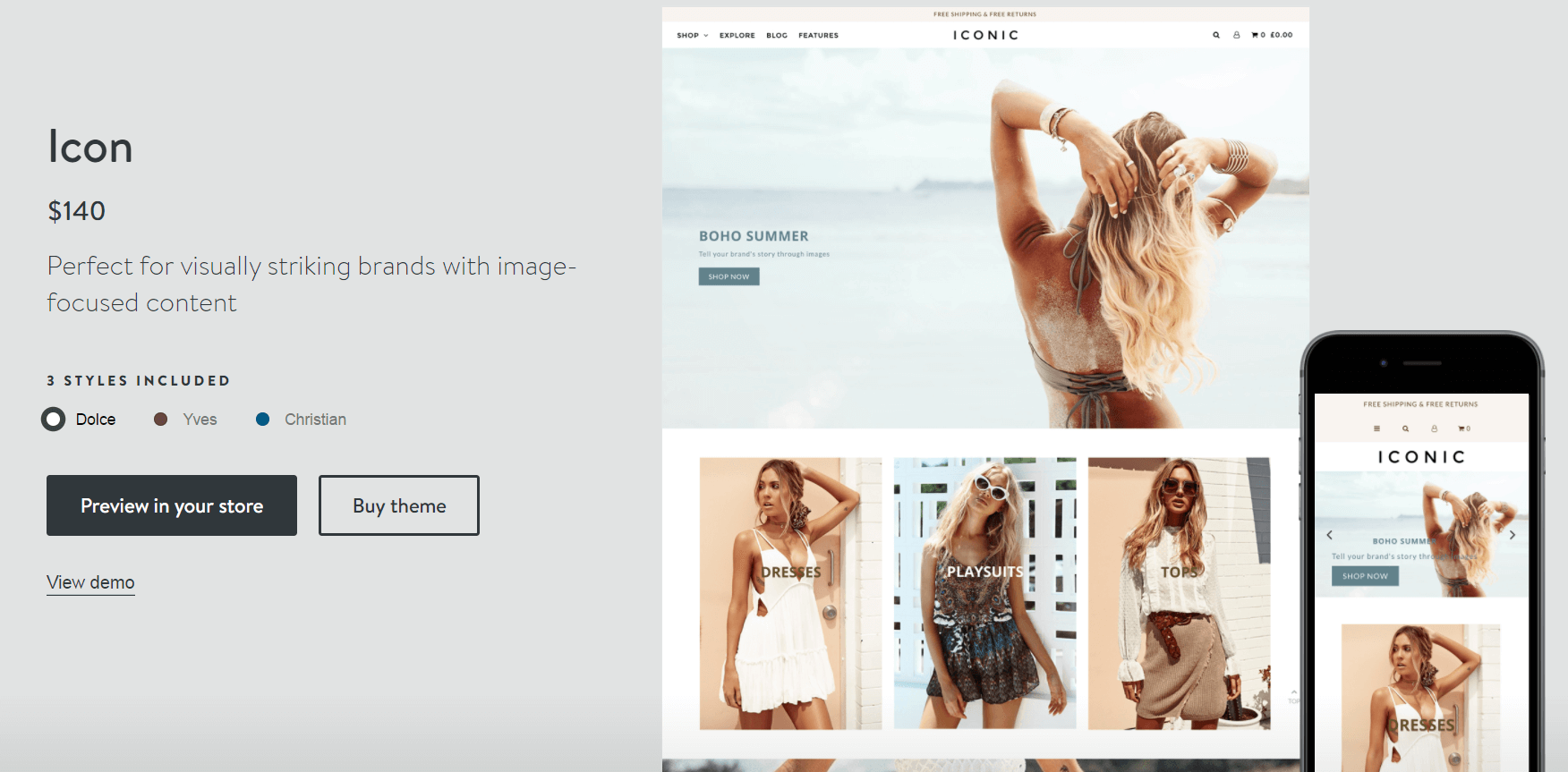 Shopify paid theme